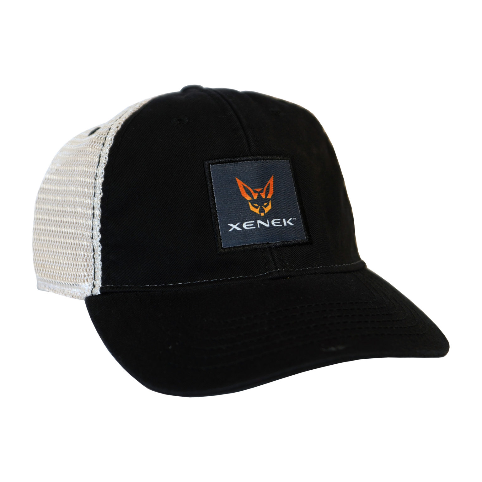 Relaxed Twill Black Trucker Cap w/ XENEK Patch